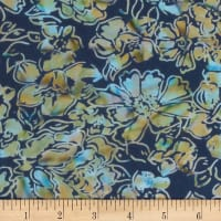 Banyan Batiks Roses And Thorns Sienna Teal