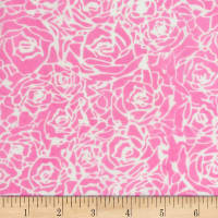 Banyan Batiks Roses And Thorns Blush Pink
