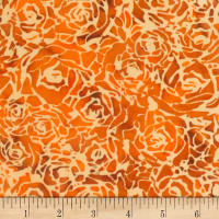 Banyan Batiks Roses And Thorns Sienna Orange