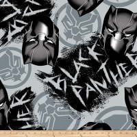 Marvel Avengers Fleece Black Panther Graffiti Gray