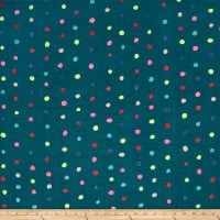Kokka Nani Iro Double Gauze Colorful Pocho Dot Navy