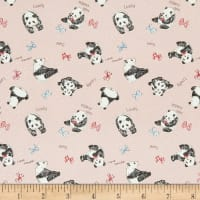 Kokka Animal Oxford Panda Pink