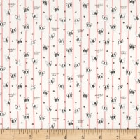 Kokka Putite Colle Double Gauze French Bull Stripe Pink