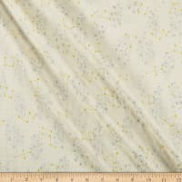 Kokka Blue Sky Double Gauze Constellations Metallic/Cream
