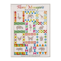 In The Beginning Floral Menagerie BOM Series Pattern Multi