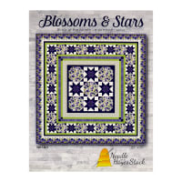 Needle In A Hayes Stack Blossoms & Stars BOM Series Pattern Multi