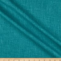 India Imports Wrinkle-Free Drapery Basketweave Peacock