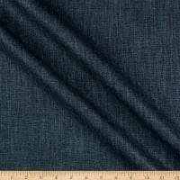 India Imports Wrinkle-Free Basketweave Drapery Navy
