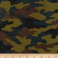 Kaufman Sevenberry Camouflage Flannel Olive