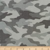Kaufman Sevenberry Camouflage Flannel Grey