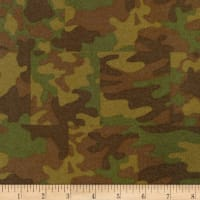 Kaufman Sevenberry Camouflage Flannel Patch Olive