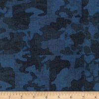 Kaufman Sevenberry Camouflage Flannel Patch Blue