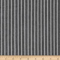 Kaufman Tamarack Flannel Stripes Two Toned Black