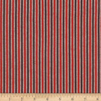 "Kaufman Tamarack Flannel 1/8"" Stripes Two Toned Red"
