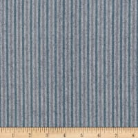 "Kaufman Tamarack Flannel 1/8"" Stripes Two Toned Ocean"