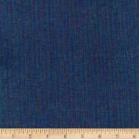 Kaufman Essex Yarn Dyed Metallic Linen Blend Navy
