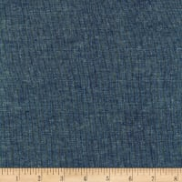 Kaufman Essex Yarn Dyed Metallic Linen Blend Ocean