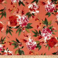 Liverpool Double Knit Floral Coral/Rust