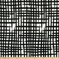 Liverpool Double Knit Abstract Plaid Black/White