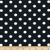Liverpool Double Knit Polka Dot Navy/Ivory