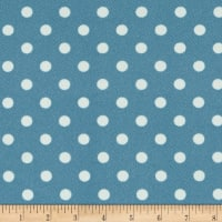 Liverpool Double Knit Polka Dot Indigo/Ivory