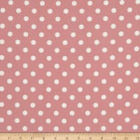Liverpool Double Knit Polka Dot Rose Pink/Ivory