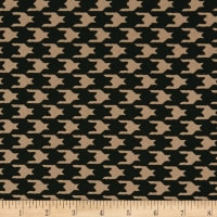Liverpool Double Knit Houndstooth Black/Taupe