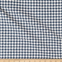Kravet 31214 Basketweave Houndstooth Blue/White