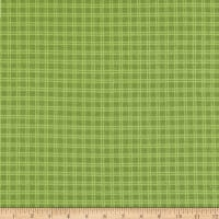 Robert Kaufman Campsite Critters Flannel Plaid Grass