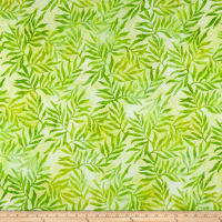 Kaufman Artisan Batik: Color Source Leaves Celery