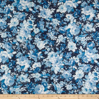 Kaufman Mayfield Large Flowers Indigo