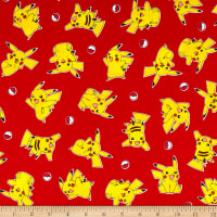 Kaufman Pokemon Large Pikachu Red