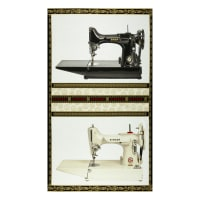 "Kaufman Sewing With Singer 36"" Panel Sewing Machine Antique"