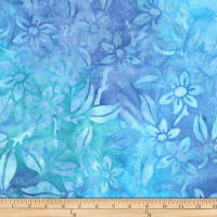 Kaufman Gazebo Batik Flowers Blueberry