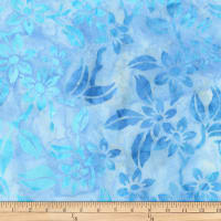 Kaufman Gazebo Batik Flowers Cornflower