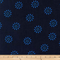 Kaufman Terracina Flowers Navy