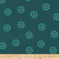 Kaufman Terracina Flowers Teal