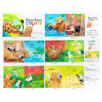 "Elizabeth's Studio Bear Sees Colors 36"" Book Panel Multi"