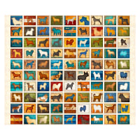 "QT Fabrics Must Love Dogs Dog Patch 36"" Panel Oatmeal"