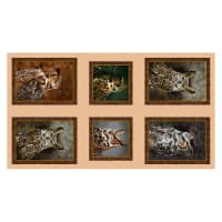 """QT Fabrics Nocturnal Wonders Great Horned Owls Picture Patches 24"""" Panel"""
