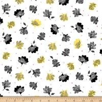 QT Fabrics  Nadine Tossed Floral White