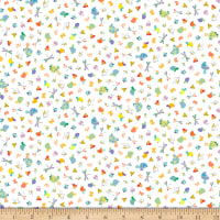 QT Fabrics Slow Poke Turtles & Insects White