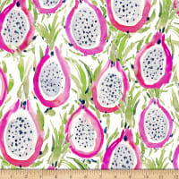QT Fabrics Barbarian Wild & Fruity Dragon Fruit White