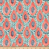 QT Fabrics Barbarian Wild & Fruity Papaya Mint