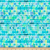 QT Fabrics Barbarian Wild & Fruity Paint Splashes Aqua