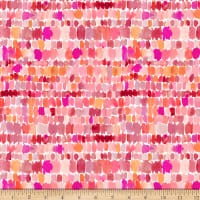 QT Fabrics Barbarian Wild & Fruity Paint Splashes Pink