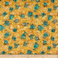 QT Fabrics Dan Morris Cafe All Day Tossed Coffee Cups Gold