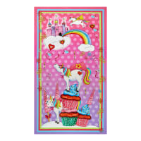 "QT Fabrics Party Like A Unicorn Unicorn 24"" Panel Pink"
