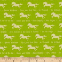 QT Fabrics Party Like A Unicorn Unicorn Silhouettes Spring Green