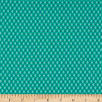 QT Fabrics  Sweet Caroline Diamond Check Dark Turquoise
